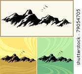 amazing mountain and hills icons | Shutterstock .eps vector #79054705