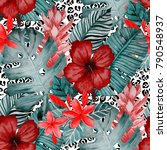 watercolor seamless pattern... | Shutterstock . vector #790548937