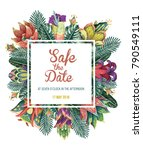 beautiful vector floral pattern ... | Shutterstock .eps vector #790549111