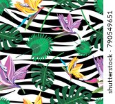 tropical seamless pattern with... | Shutterstock .eps vector #790549651