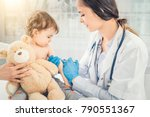 young woman pediatrician... | Shutterstock . vector #790551367