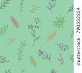 floral seamless pattern....   Shutterstock .eps vector #790552324