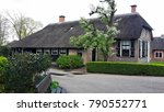 typical dutch house with... | Shutterstock . vector #790552771