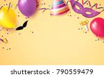 carnival background flat lay.... | Shutterstock .eps vector #790559479