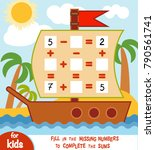 counting game for preschool... | Shutterstock .eps vector #790561741