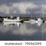 sail boats anchored at the bay... | Shutterstock . vector #790562395