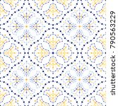 traditional portugal azulejos... | Shutterstock .eps vector #790563229