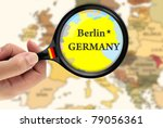 magnifying glass over a map of... | Shutterstock . vector #79056361
