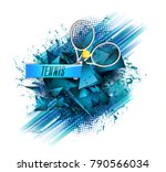 abstract blue background sport... | Shutterstock .eps vector #790566034