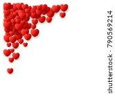 heart love symbol corner for... | Shutterstock .eps vector #790569214