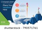 business infographics report ... | Shutterstock .eps vector #790571761