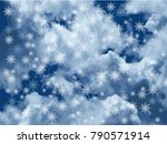dramatic white clouds and the... | Shutterstock .eps vector #790571914