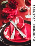 st. vsalentines day dinner.... | Shutterstock . vector #790575991