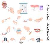 manipulation by hands cartoon...   Shutterstock .eps vector #790577419