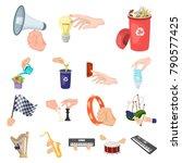 manipulation by hands cartoon...   Shutterstock .eps vector #790577425
