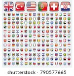 square world flags vector set | Shutterstock .eps vector #790577665