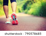 young fitness female runner... | Shutterstock . vector #790578685