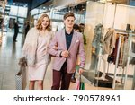 happy stylish young couple with