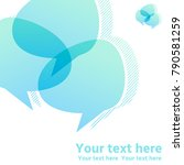overlapping  intersecting text... | Shutterstock .eps vector #790581259