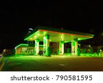 petrol gas station station at... | Shutterstock . vector #790581595