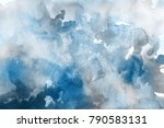 blue with gray and white... | Shutterstock . vector #790583131