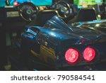racing simulator game in theme... | Shutterstock . vector #790584541