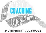 coaching word cloud on a white... | Shutterstock .eps vector #790589011