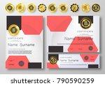 qualification certificate of...   Shutterstock .eps vector #790590259