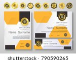 qualification certificate of...   Shutterstock .eps vector #790590265