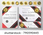 qualification certificate of...   Shutterstock .eps vector #790590445
