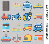 icon set about transportation... | Shutterstock .eps vector #790591495