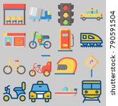 icon set about transportation... | Shutterstock .eps vector #790591504