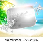 ica at the sea beach background ... | Shutterstock .eps vector #79059886