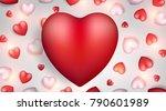 valentine's day background.... | Shutterstock .eps vector #790601989