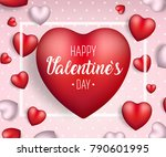valentine's day background.... | Shutterstock .eps vector #790601995