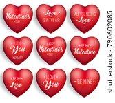 valentine's day heart sticker... | Shutterstock .eps vector #790602085