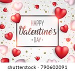 valentine's day background with ... | Shutterstock .eps vector #790602091