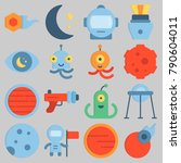 icon set about universe  | Shutterstock .eps vector #790604011