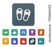 recreation icons. vector... | Shutterstock .eps vector #790604425