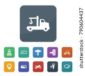 road icons. vector collection... | Shutterstock .eps vector #790604437