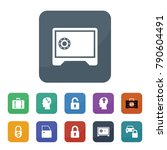 lock icons. vector collection... | Shutterstock .eps vector #790604491