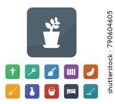 garden icons. vector collection ... | Shutterstock .eps vector #790604605