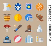 icon set about united states.... | Shutterstock .eps vector #790605625