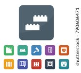 wall icons. vector collection... | Shutterstock .eps vector #790606471
