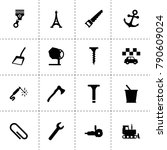 steel icons. vector collection...