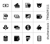 financial icons. vector...