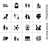 people icons. vector collection ...