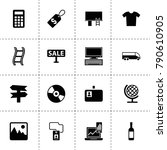 blank icons. vector collection...