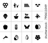 natural icons. vector...