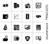 finance icons. vector... | Shutterstock .eps vector #790613251